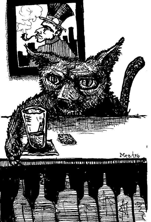 Cat Offseason Painting by Meat-Jeffery Paul Gadbois
