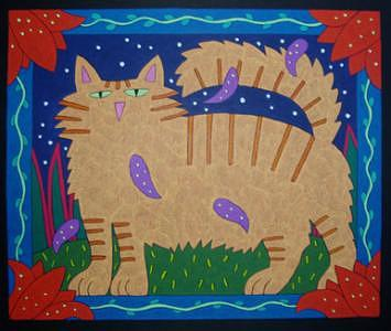 Cat Portarit Commission Painting by Nancy  Coffelt