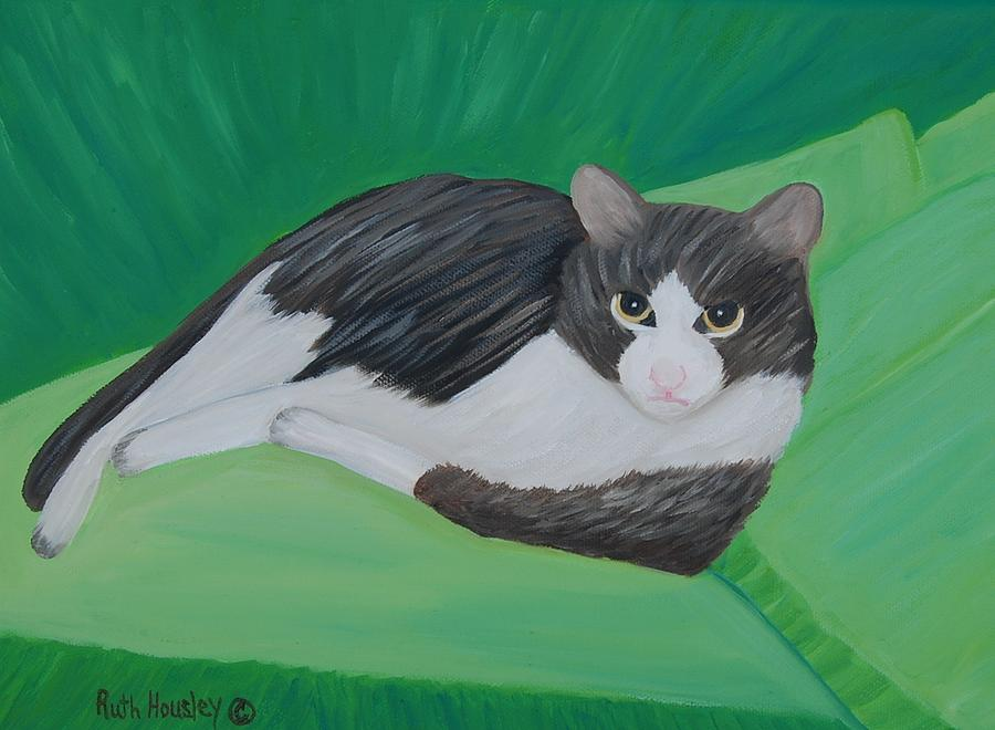 Cat Painting - Cat Portrait  Sold by Ruth  Housley
