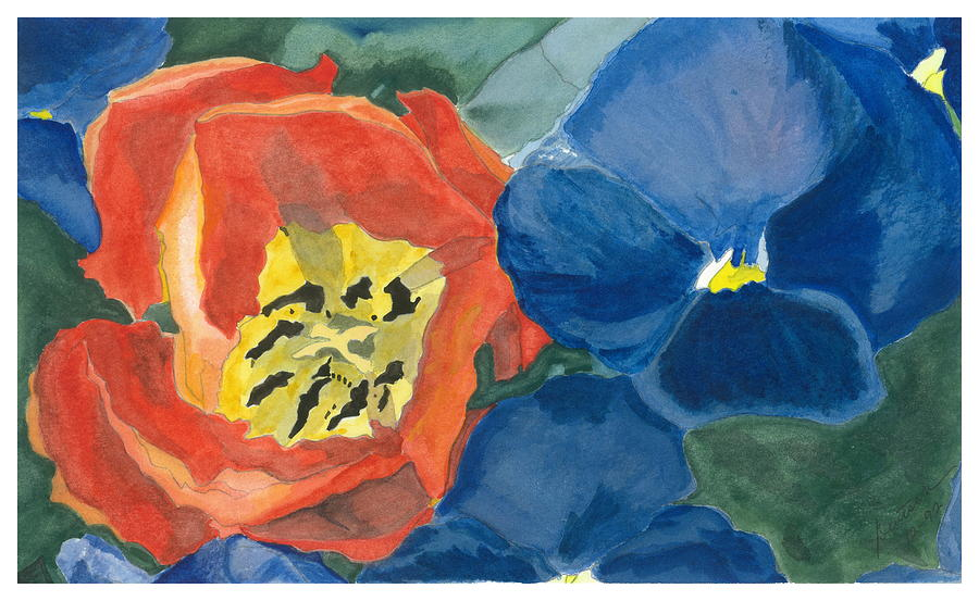 Tulip Painting - Cat Tulip by Joel Deutsch