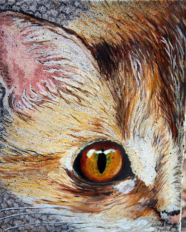 Cat Painting - Cat Visions by Lorraine Foster