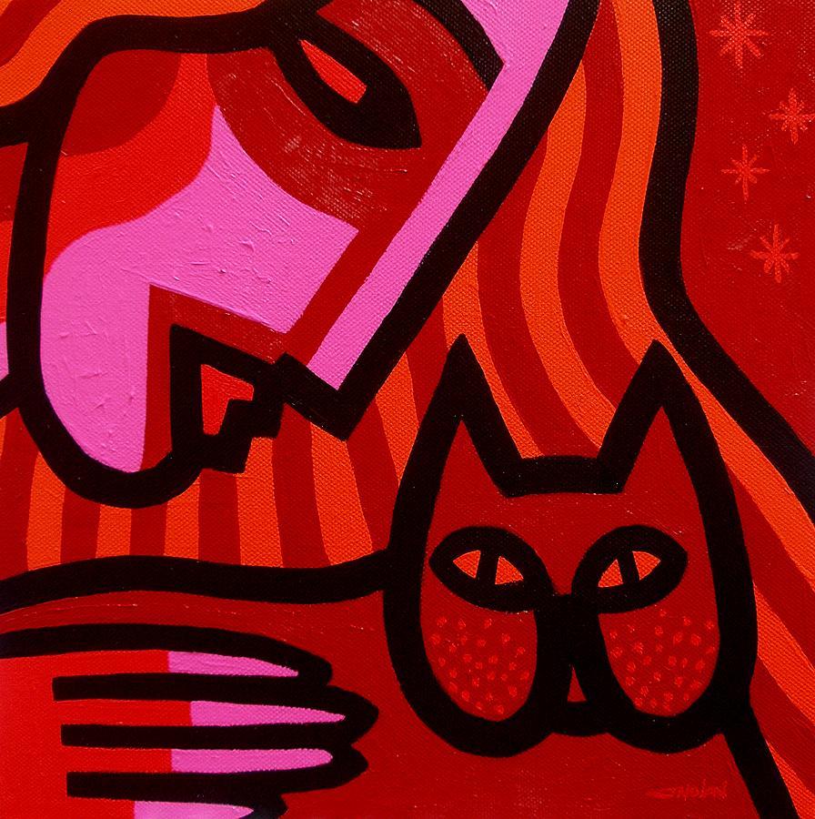 Acrylic Painting - Cat Woman by John  Nolan