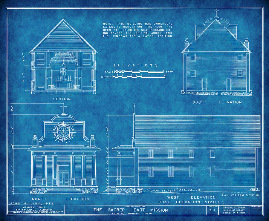 Cataldo mission blueprint idaho digital art by daniel hagerman cataldo mission digital art cataldo mission blueprint idaho by daniel hagerman malvernweather Image collections