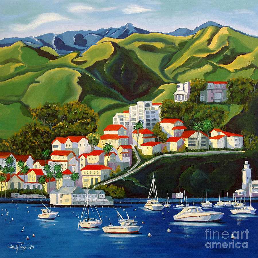 Landscape Painting - Catalina Island 2 by Milagros Palmieri