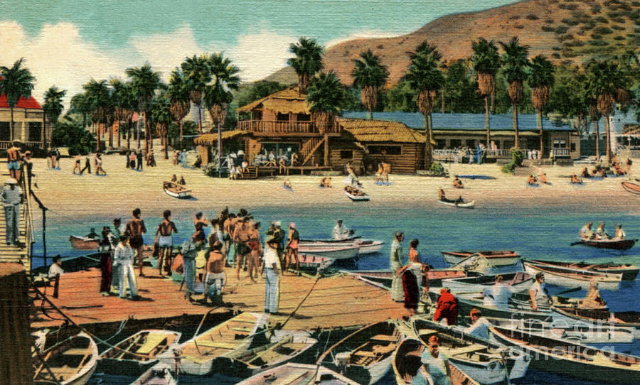 Catalina Island Photograph - Catalina Island - Isthmus - 1940 by Sad Hill - Bizarre Los Angeles Archive