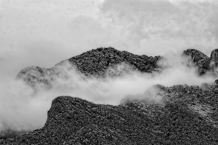 Catalinas In Clouds Bw1834 Photograph