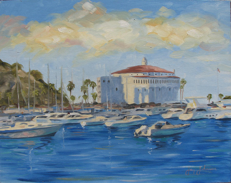 California Painting - Catallina Casino by Jay Johnson