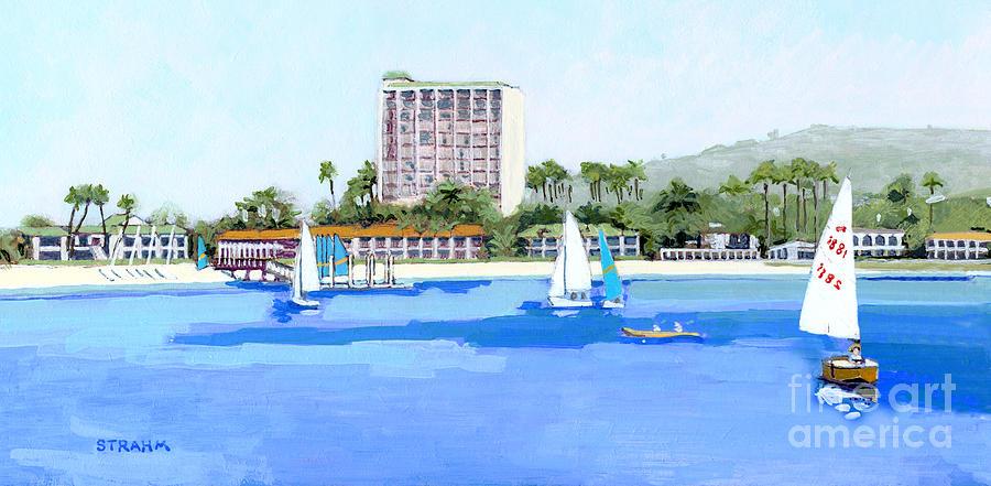 Catamaran Resort Hotel Sail Bay Pacific Beach San Diego by Paul Strahm