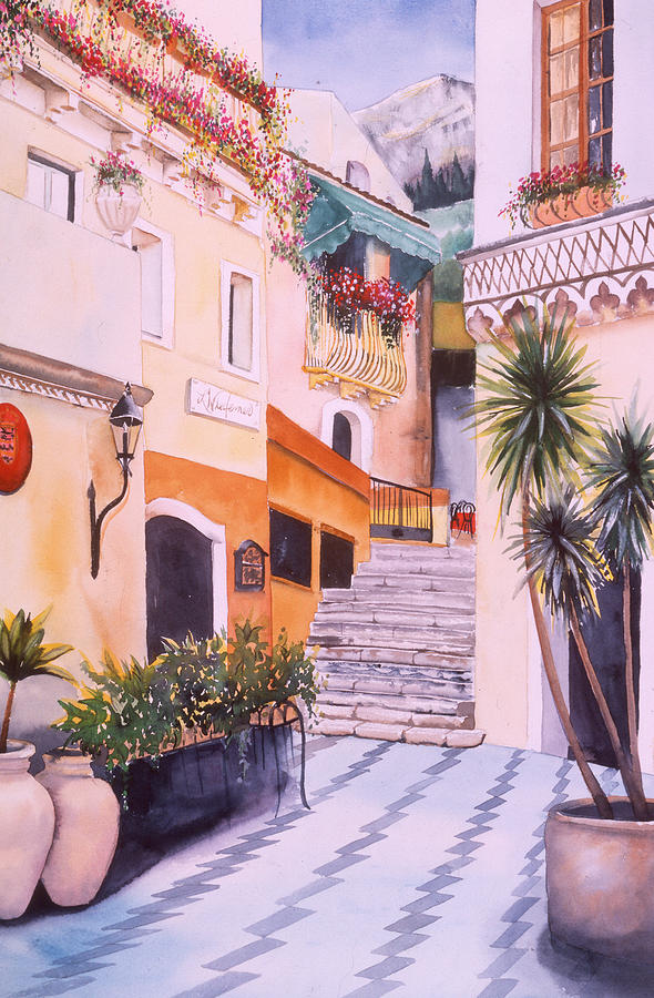 Italy Painting - Catania by Leah Wiedemer