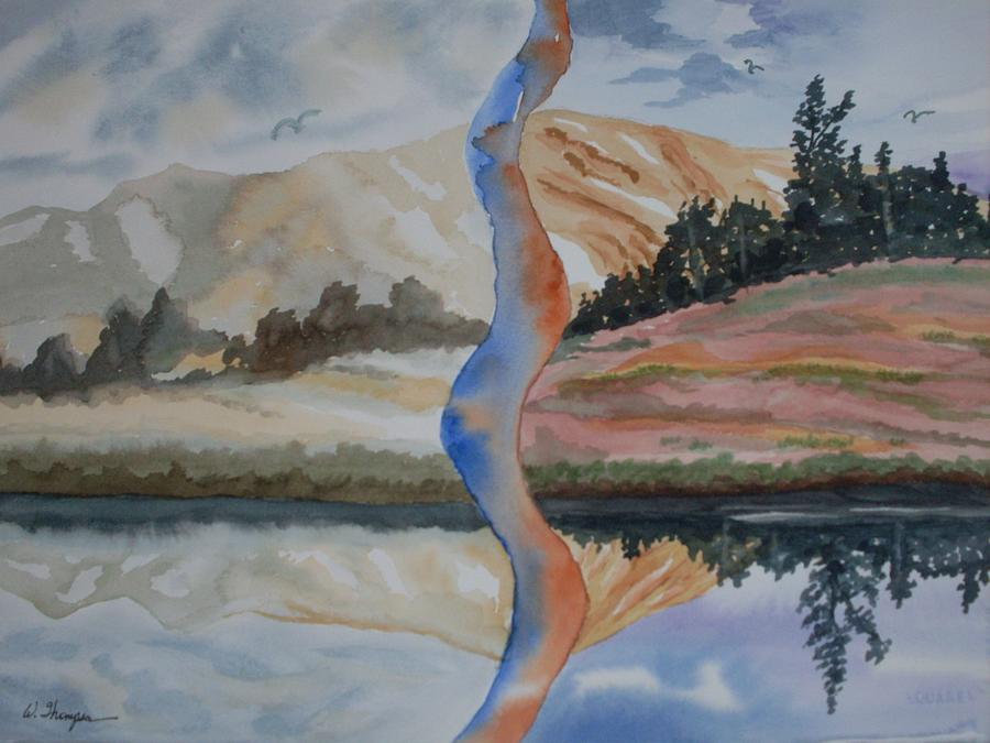 Mountains Painting - Cataract Vision by Warren Thompson
