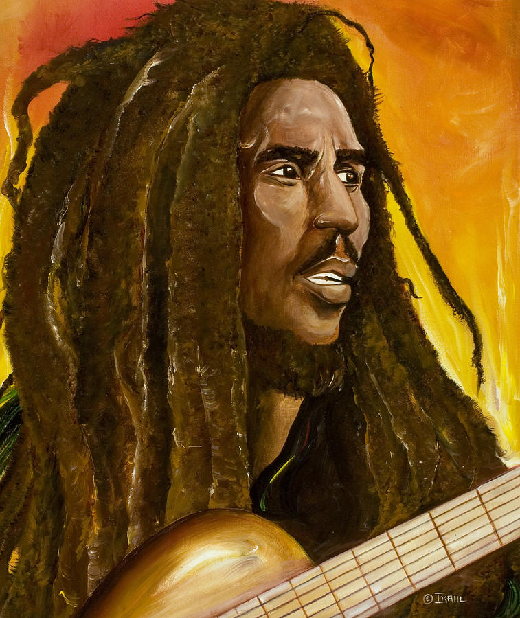 Bob Marley Painting - Catch A Fire by Ikahl Beckford