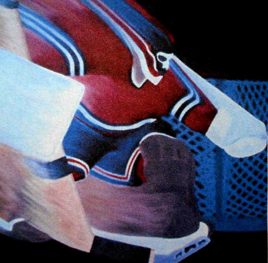 Hockey Painting - Catch Glove Save by Ken Yackel