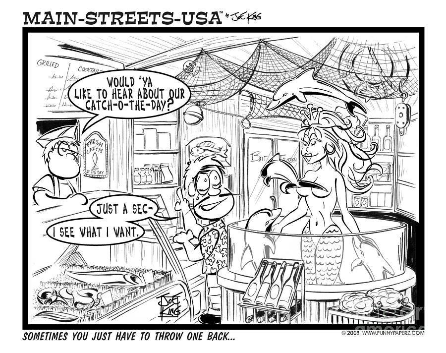 Street Scape Digital Art - Catch O The Day by Joe King