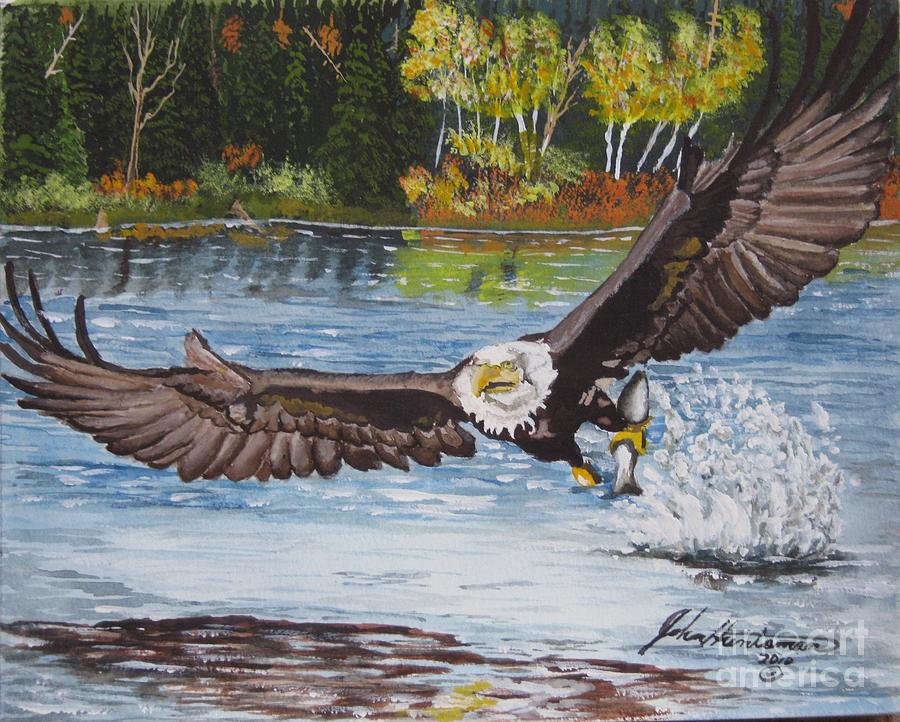 Bald Eagle Painting - Catch Of The Day by John Huntsman