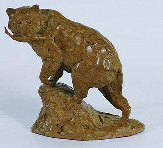 Bear Sculpture - Catch Of The Day by Melvin Johansen