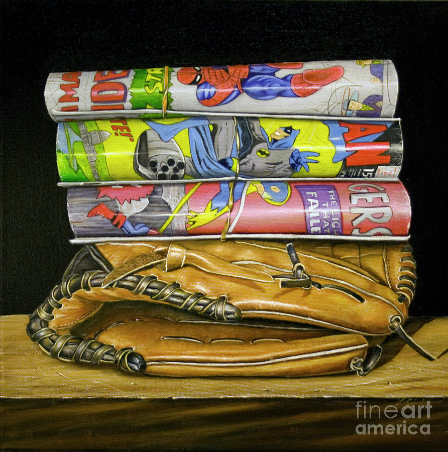 Still Life Painting - Catch The Hero by Vic Vicini
