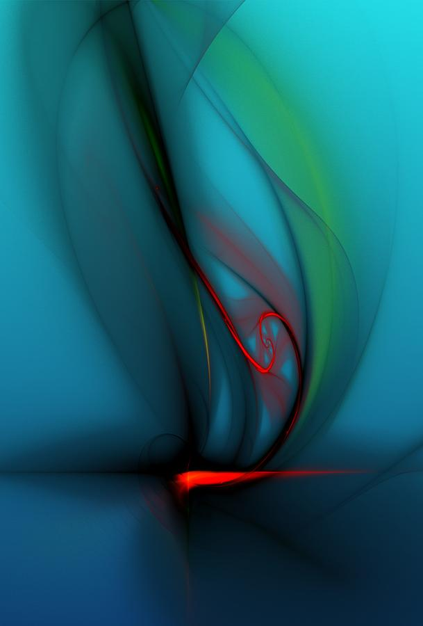 Digital Painting Digital Art - Catch The Wind by David Lane
