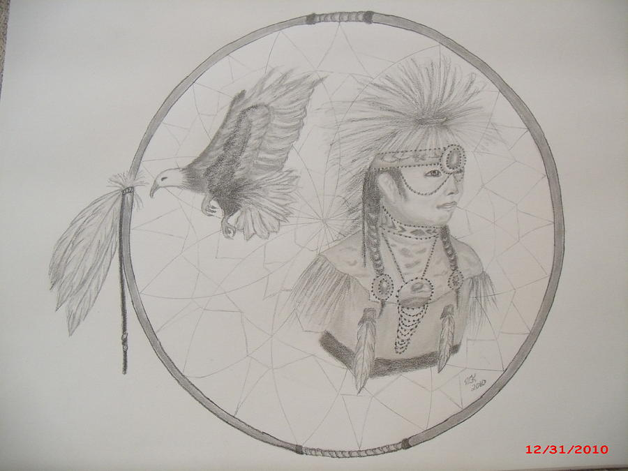 Catcher Of Dreams Past Drawing By Rhonda Kepner