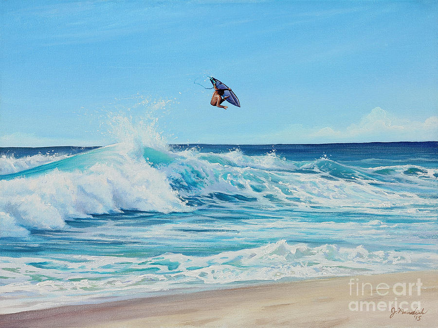 California Painting - Catching Air by Joe Mandrick