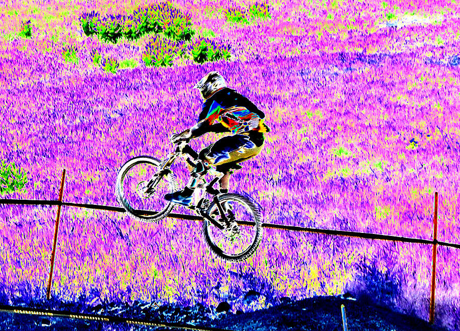 Mountain Bike Digital Art - Catching Air by Peter  McIntosh