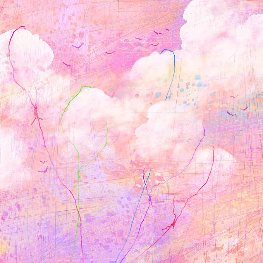 Abstract Digital Art - Catching Clouds by Rachel Christine Nowicki