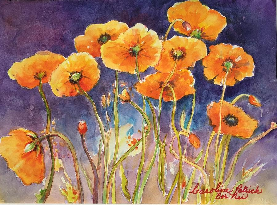 Poppies Painting - Catching The Light by Caroline Patrick