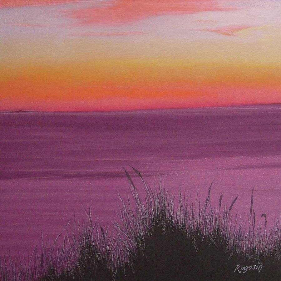 Cape Cod Pastel - Catching The Mood At Cape Cod Bay by Harvey Rogosin