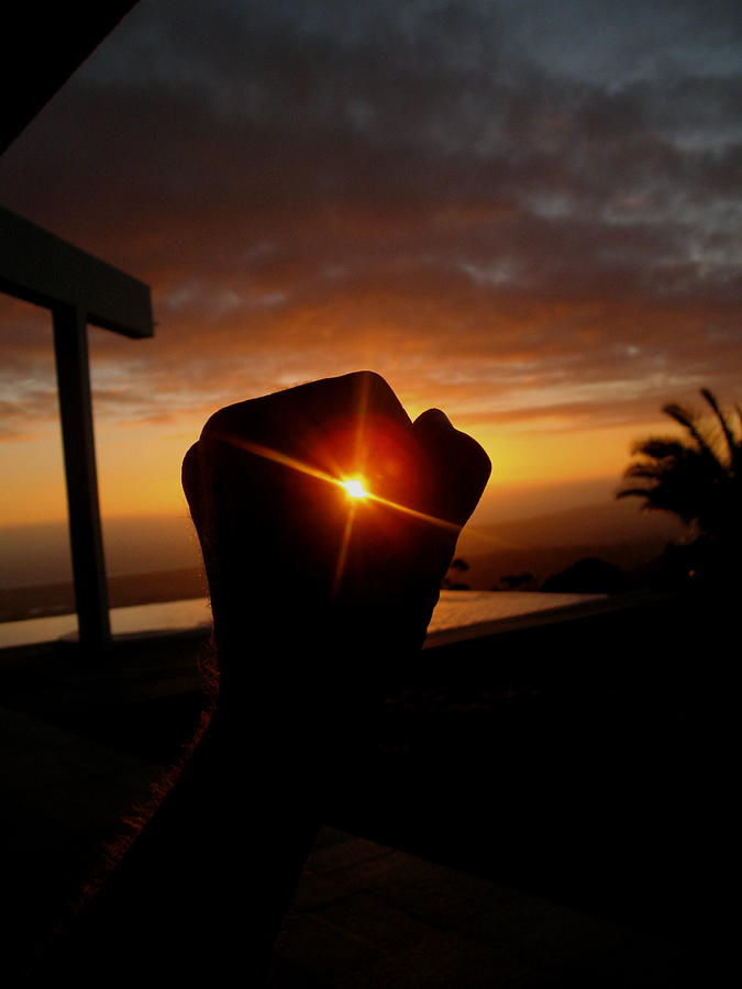 Hand Photograph - Catching The Sun by Nico Smith