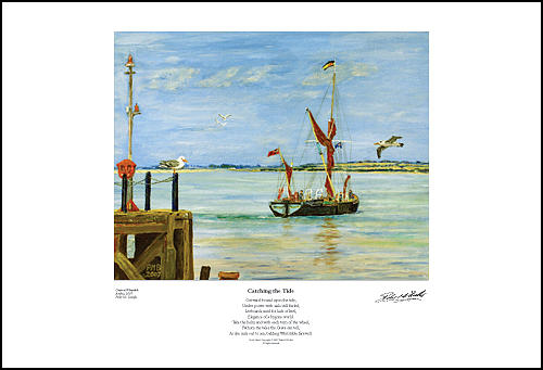 Seascape Painting - Catching The Tide - Giclee Print by Peter Mark Butler