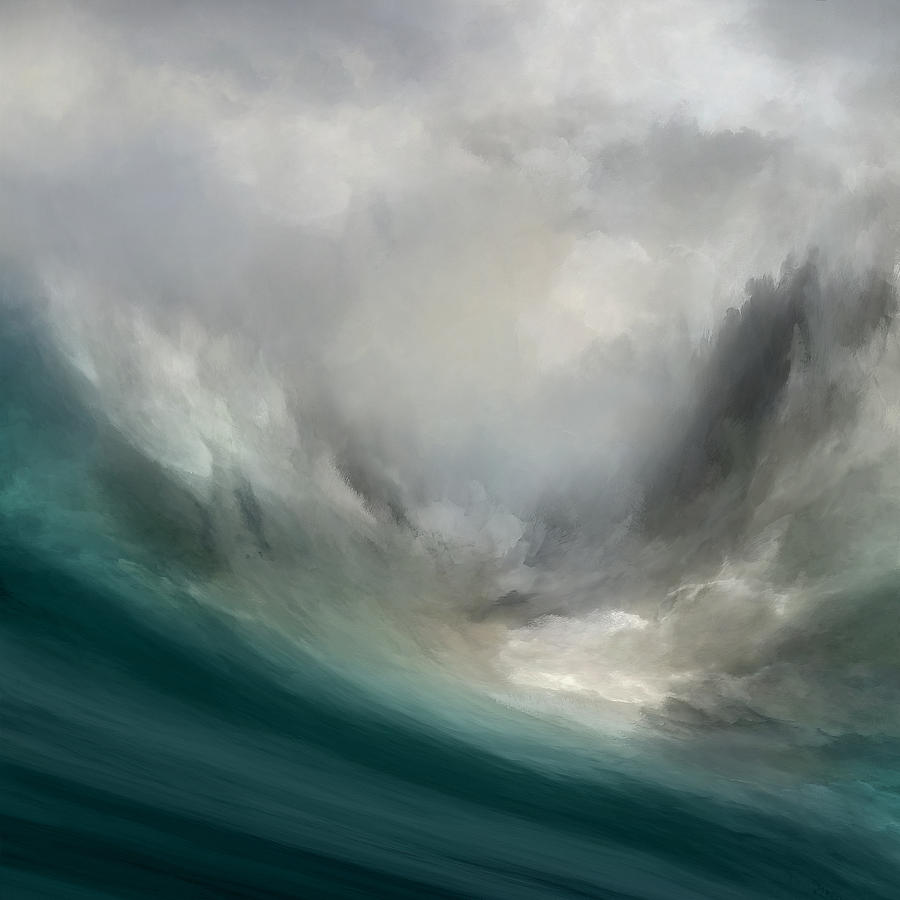 Atmosphere Mixed Media - Catching Waves by Lonnie Christopher