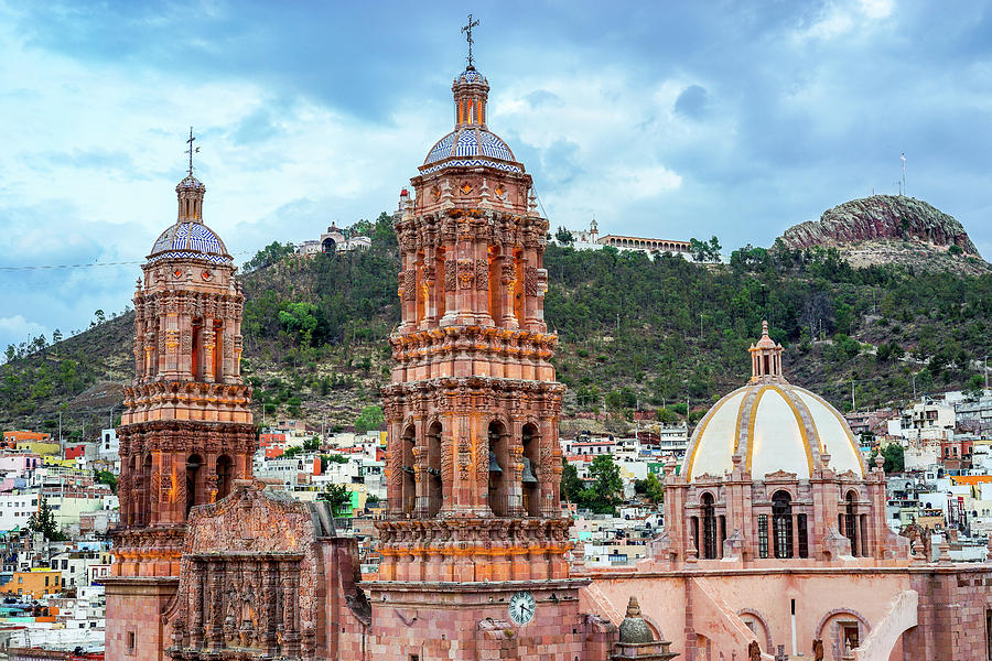 Catedral Photograph - Catedral De Zacatecas  by Rollie Robles