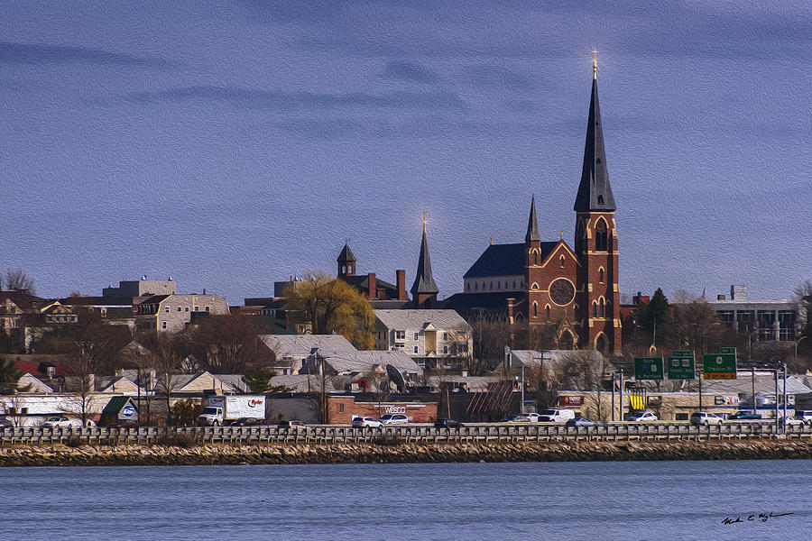 Cathedral Across The Bay-oil Photograph