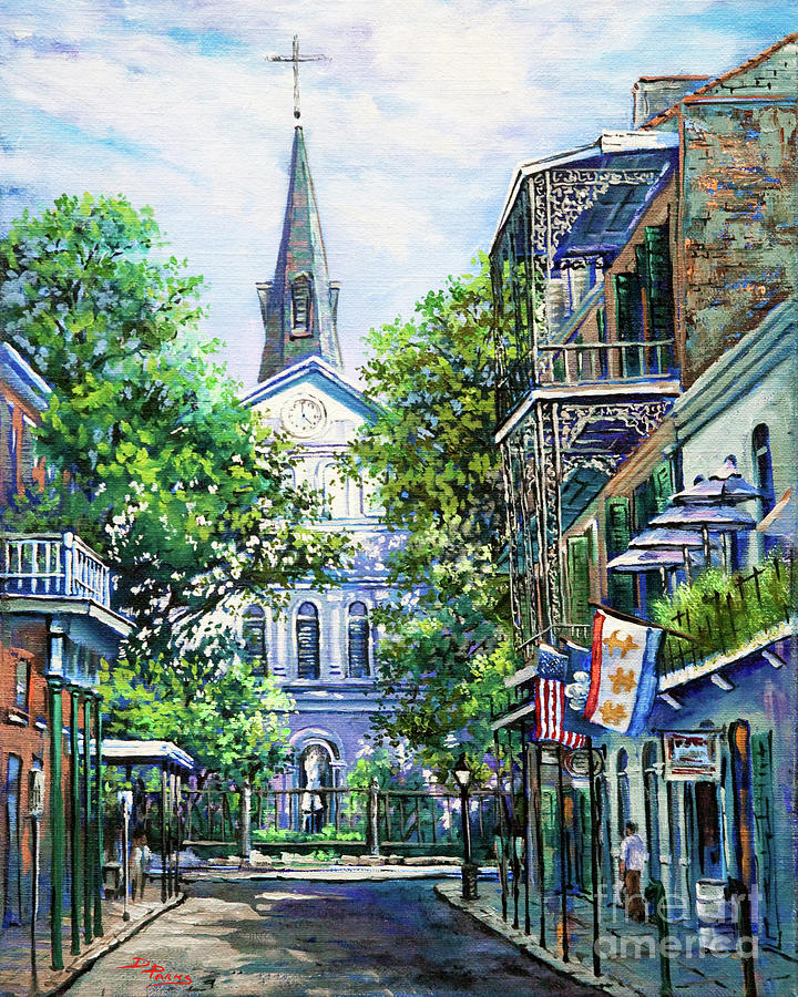 St. Louis Cathedral Painting - Cathedral At Orleans by Dianne Parks