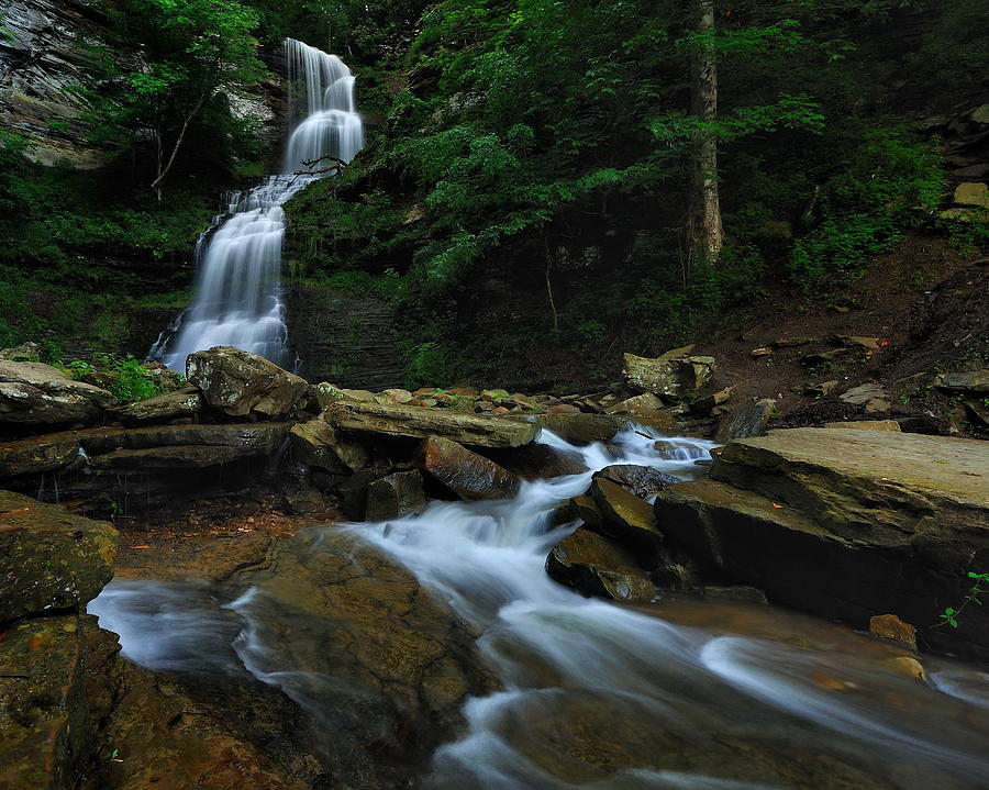 Cathedral Falls Photograph by Jeff Burcher