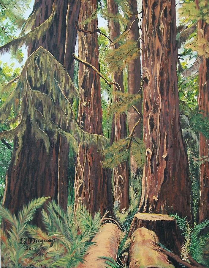 Cathedral Grove Painting