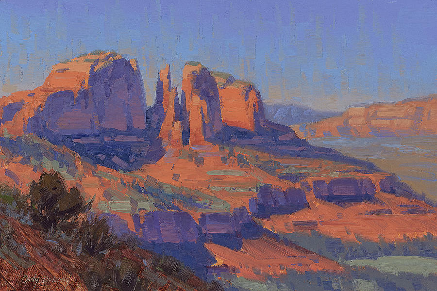 Sedona Painting - Cathedral In The Heat by Cody DeLong