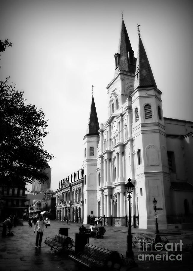Jackson Square Photograph - Cathedral Morning 2 by Perry Webster