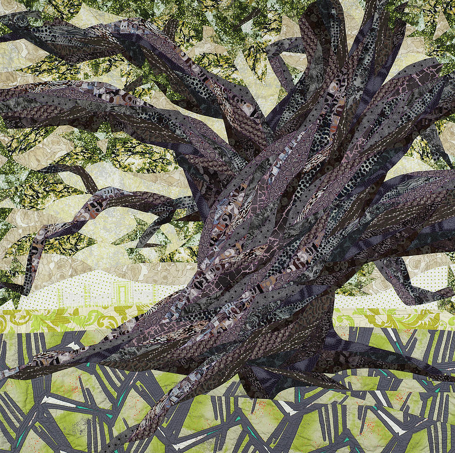 Tree Tapestry - Textile - Cathedral Oak by Linda Beach