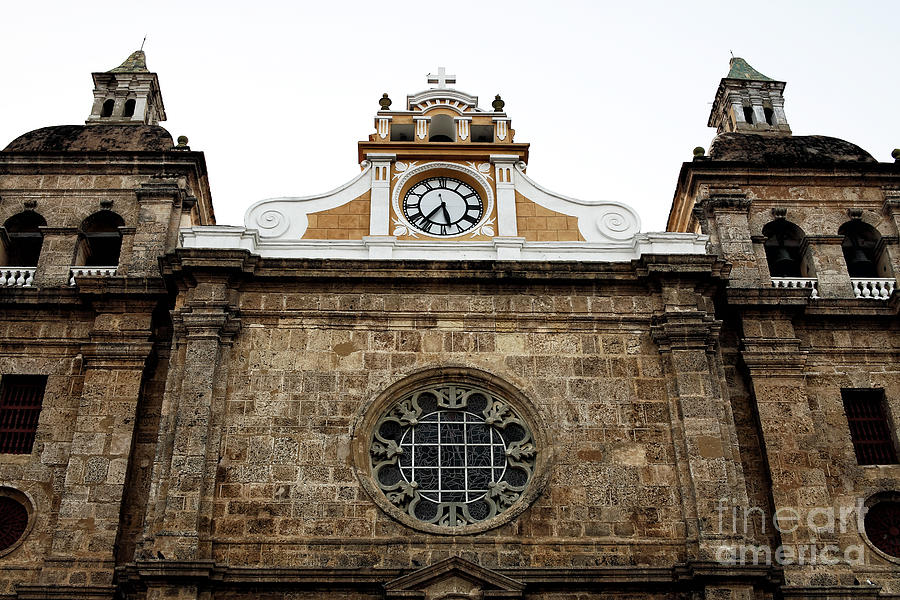 Cathedral Photograph - Cathedral Of Cartagena by John Rizzuto