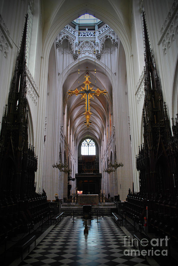 Floor Photograph - Cathedral Of Our Lady by Jost Houk