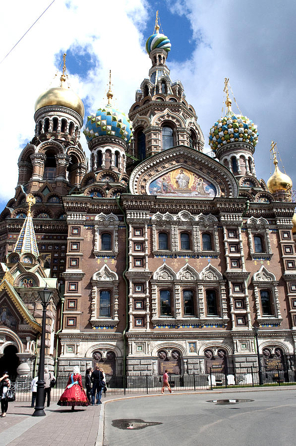 Cathedral Photograph - Cathedral Of The Spilled Blood C258 by Charles  Ridgway