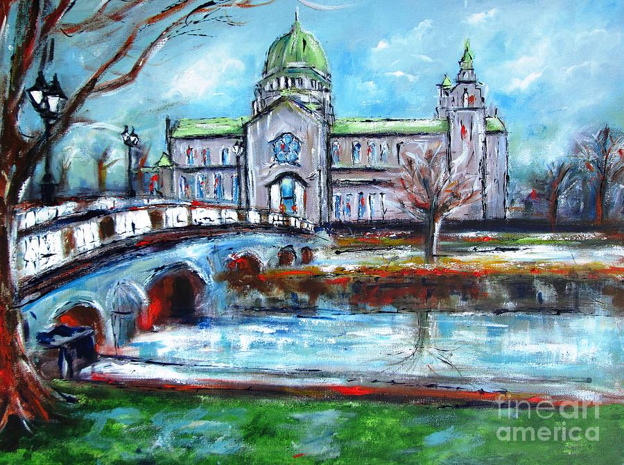 Cathedral Painting - Galway Cathedral - Paint Your Favorite Building by Mary Cahalan Lee- aka PIXI