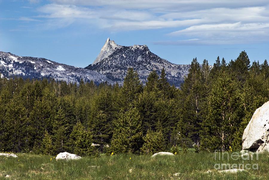 Landscape Photograph - Cathedral Peak  by Richard Verkuyl