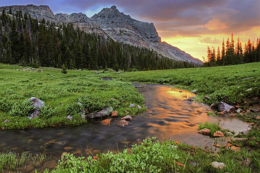 Cathedral Peak Sunset High Uinta Mountains Wilderness Utah Photograph By Brett Pelletier