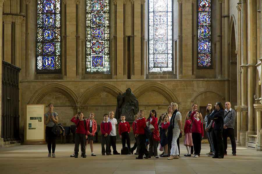 Kids Photograph - Cathedral People by Joanna Madloch