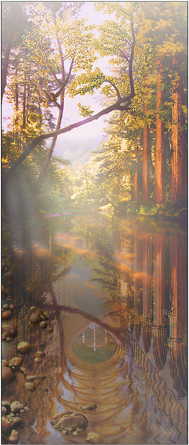 Cathedral Painting - Cathedral Redwoods by Robby Donaghey