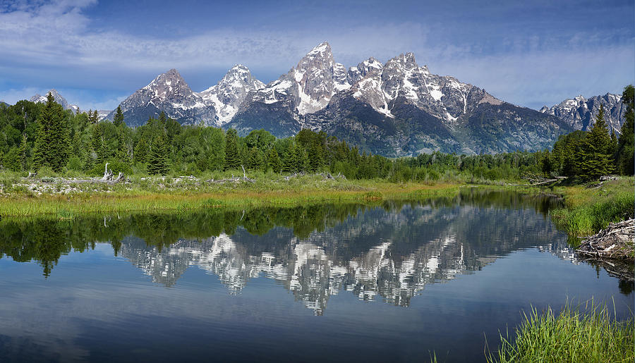 Grand Tetons Photograph - Grand Teton Reflections by Sun Gallery Photography Lewis Carlyle