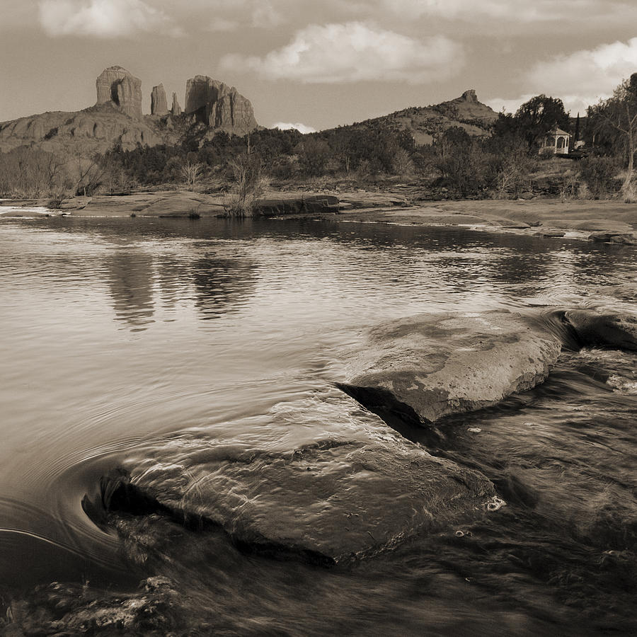 Red Rocks Photograph - Cathedral Rock Flow by Bob Coates