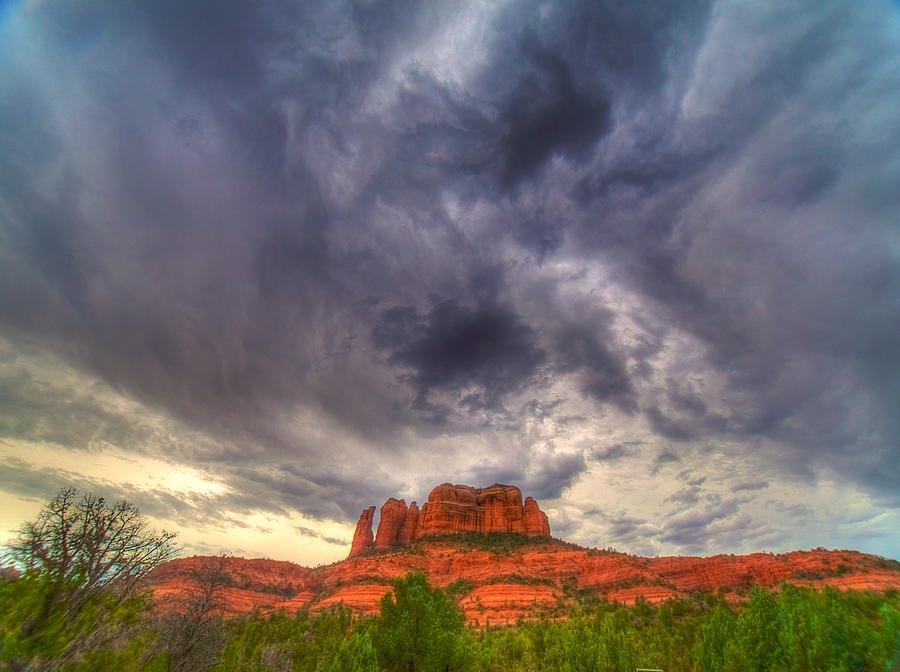 Sedona Photograph - Cathedral Rock Vortex by William Wetmore