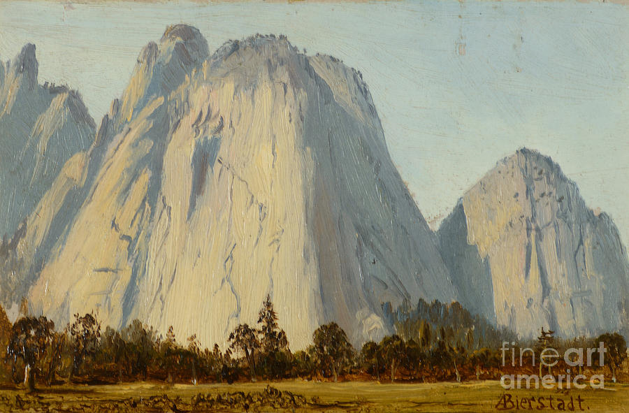 Cathedral Rocks  - Yosemite Valley Painting by Celestial Images